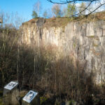 Climbing in the Eifel in an abandoned quarry